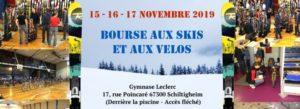 Bourse aux Skis et Vélos du 15 au 17 Novembre 2019 à Schiltigheim @ Gymnase Leclerc Schiltigheim