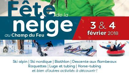 Fête de la Neige Samedi 3 et Dimanche 4 Février 2018 au Champ du Feu