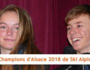 Lou Herrmann et Robin Boileau Champions d'Alsace 2018 de Ski Alpin