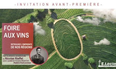 Invitation foire aux vins au Leclerc de Sélestat