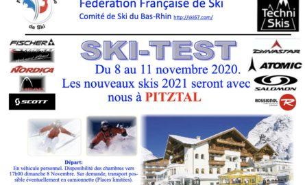 Ski-Test 2020 – Pitztal – 8 au 11 novembre